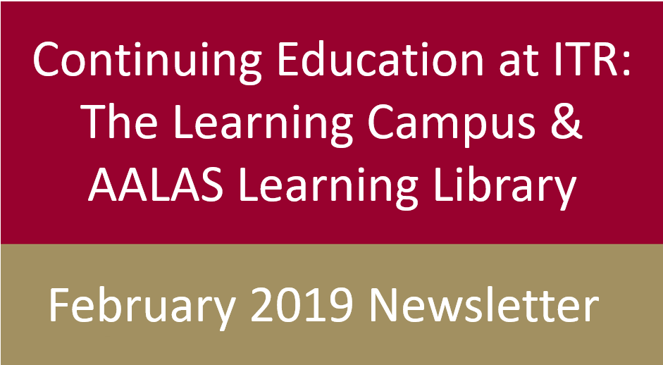 ITR Laboratories February 2018 Newsletter