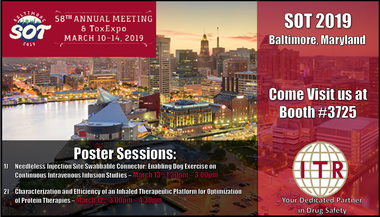 Society of Toxicology 2019 Conference Baltimore Maryland